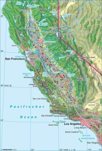 Kalifornien um 2008 |  | USA - Geschichte und Gegenwart | Karte 205/5