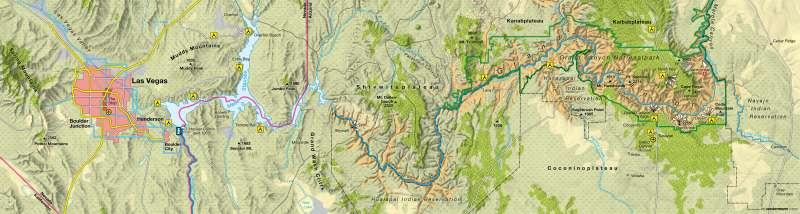 Diercke Weltatlas - Kartenansicht - Coloradoplateau / Grand Canyon ...