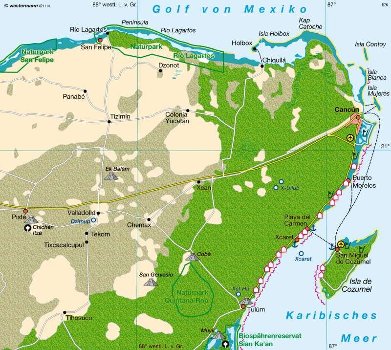 Yucatán (Mexiko) | Kultur- und Massentourismus | Mittel- und Südamerika (Lateinamerika) | Karte 211/4