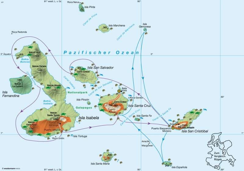 Galápagos-Inseln (Ecuador) | Naturtourismus und Naturschutz | Mittel- und Südamerika (Lateinamerika) | Karte 211/5