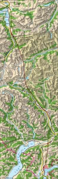 Sankt-Gotthard-Pass und -Tunnel |  | Alpenraum – Verkehr | Karte 40/1