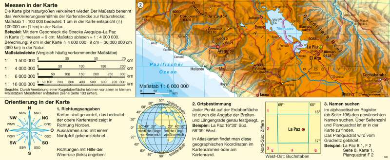 Messen in der Karte/Orientierung in der Karte |  | Einführung in das Kartenlesen – physische Karte | Karte 8/2