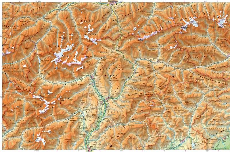 Südtirol | physisch | Südtirol – physisch | Karte 14/1