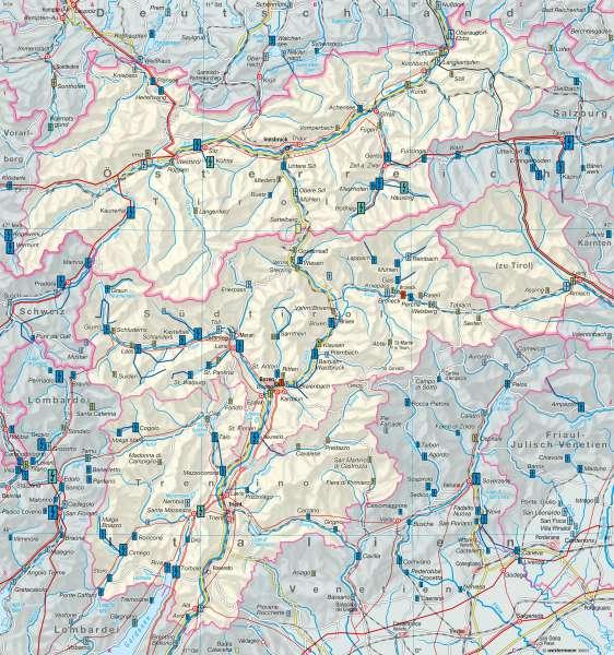 Energie |  | Euregio Tirol-Südtirol-Trentino – Energie/Wirtschaft | Karte 20/1