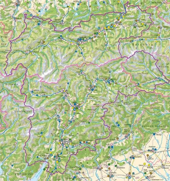 Wirtschaft      Euregio Tirol-Südtirol-Trentino – Energie/Wirtschaft   Karte 21/2
