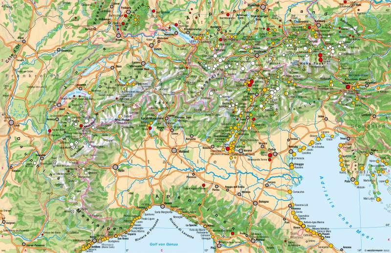 Tourismus |  | Alpenraum – Tourismus und Umwelt | Karte 28/1