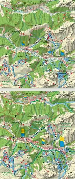Grödner Tal | Landschaftswandel | Alpenraum – Tourismus und Umwelt | Karte 29/3
