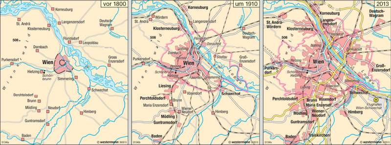 Wien | Stadtentwicklung | Österreich | Karte 43/4