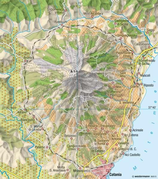 Sizilien Karte ätna.Diercke Weltatlas Kartenansicht Landnutzung Am ätna 978 3 14