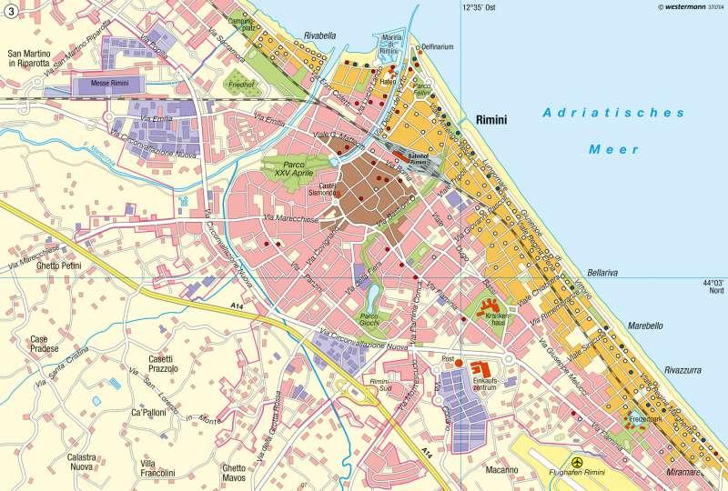 rimini italien landkarte Diercke Weltatlas   Kartenansicht   Rimini   Badetourismus   978 3