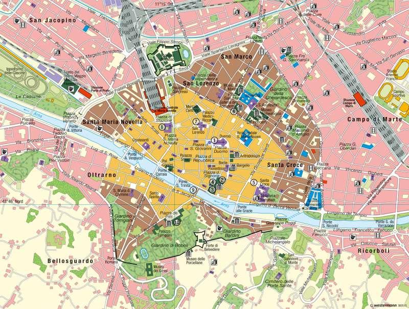 florenz karte Diercke Weltatlas   Kartenansicht   Florenz   Kulturtourismus