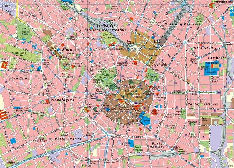 Mailand | Innenstadt | Italien – Wirtschaft und Bevölkerung | Karte 56/3
