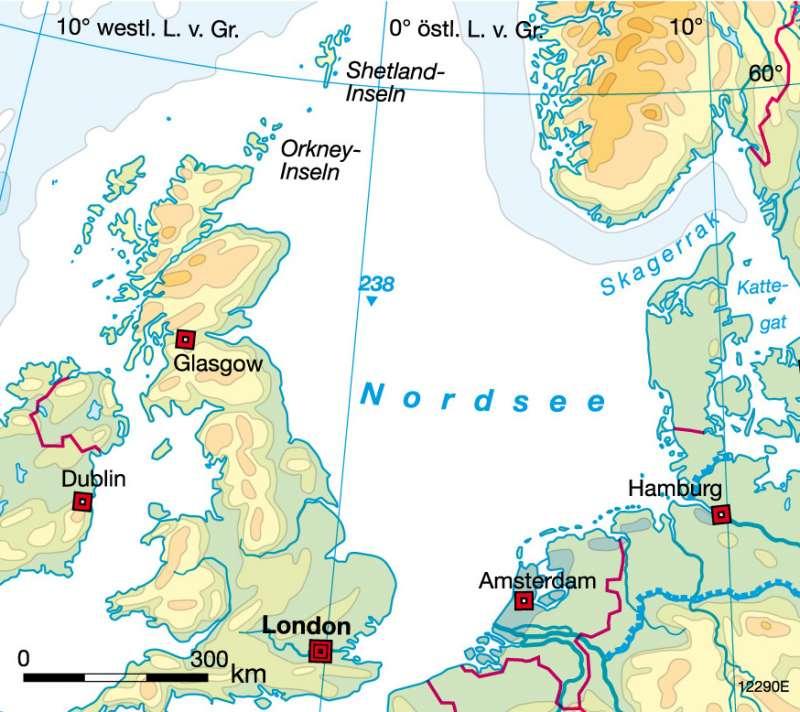Diercke Weltatlas Kartenansicht Nordsee Erdol Und