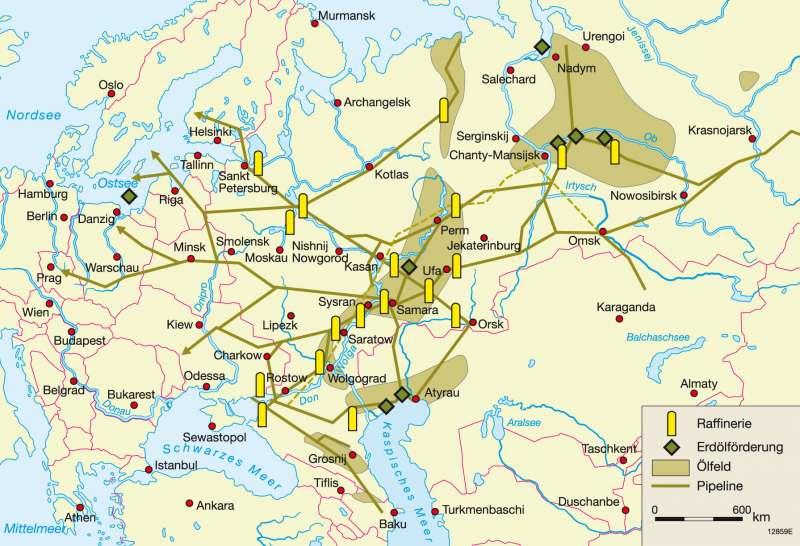 Karte Russland.Diercke Weltatlas Kartenansicht Russland Und