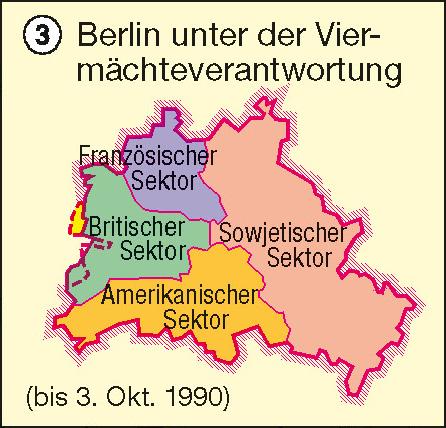 Berlin unter der Viermächteverantwortung |  | Berlin | Karte 34/3