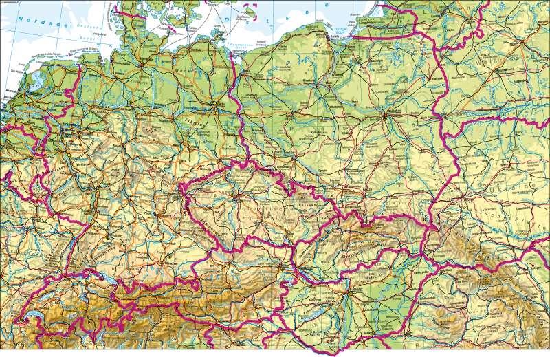 Mitteleuropa | physisch | Mitteleuropa – physisch | Karte 68/1