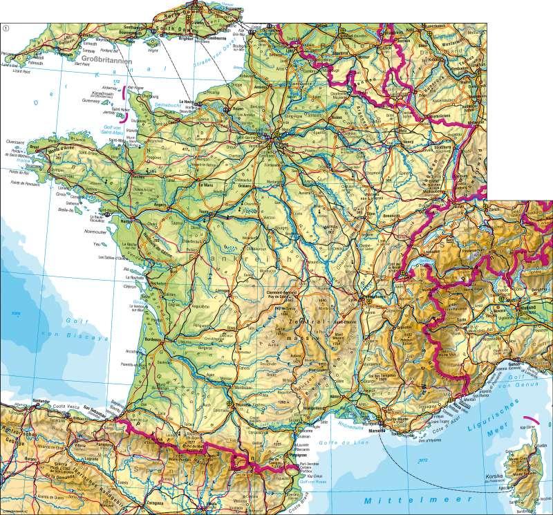 Frankreich | physisch | Frankreich – physisch | Karte 76/1