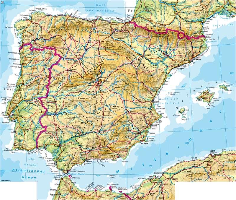 Iberische Halbinsel | physisch | Iberische Halbinsel - physisch | Karte 118/1