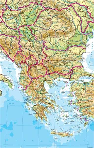 Balkanhalbinsel | physisch | Balkanhalbinsel - physisch | Karte 124/1