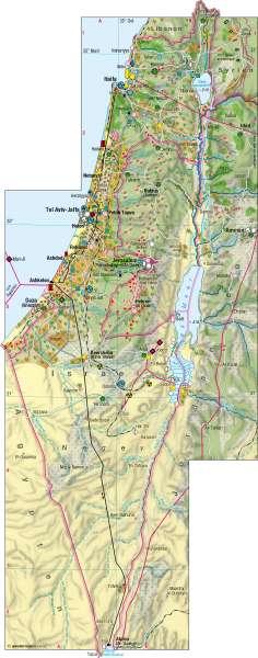 Israel | Wirtschaft | Naher Osten | Karte 161/5