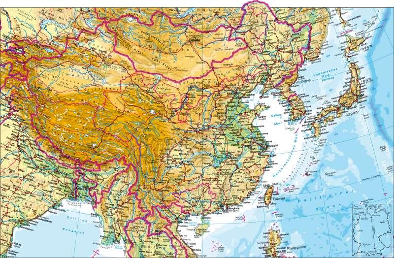 Ostasien | physisch | Ostasien - physisch | Karte 168/1