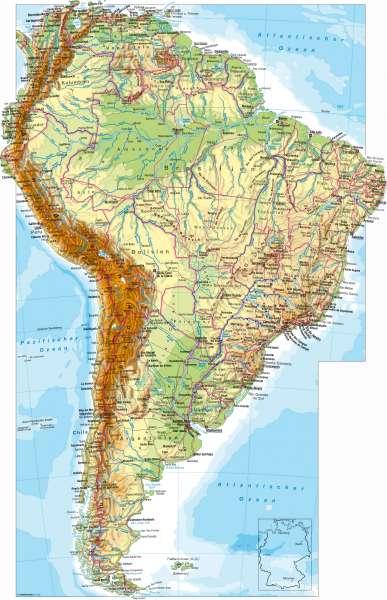Südamerika | physisch | Südamerika – physisch | Karte 158/1