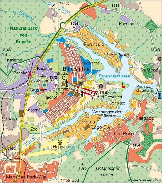 Brasilia   Hauptstadt seit 1960   Brasilien   Karte 219/6