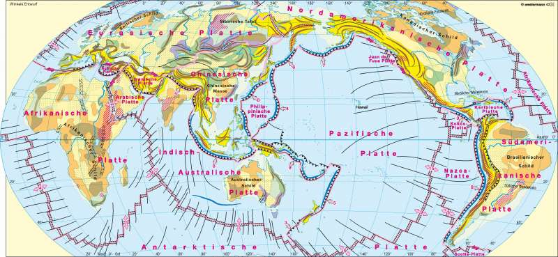 Geotektonik |  | Erdgeschichte/Tektonik/Vulkanismus | Karte 225/2