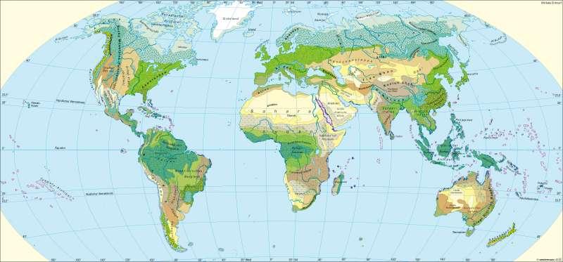 Ökozonen |  | Erde - potenzielle natürliche Vegetation | Karte 236/1