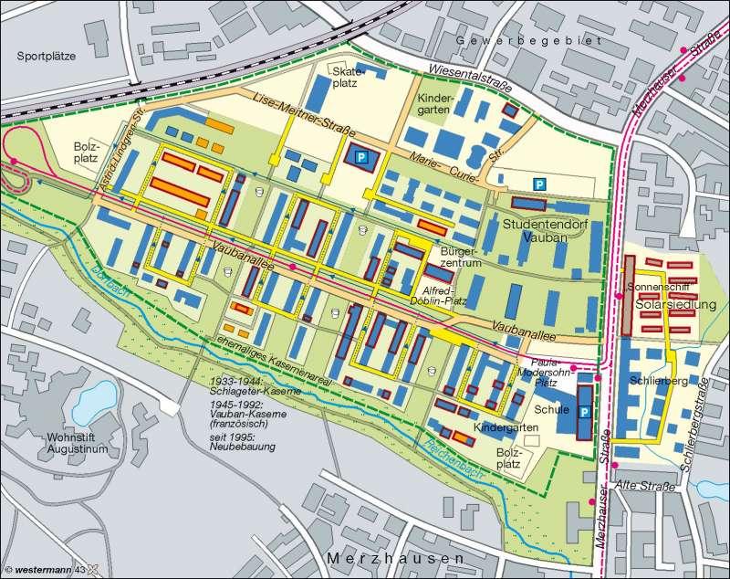 Quartier Vauban (Freiburg) | nachhaltige Stadtentwicklung | Deutschland – Nachhaltigkeit | Karte 53/4
