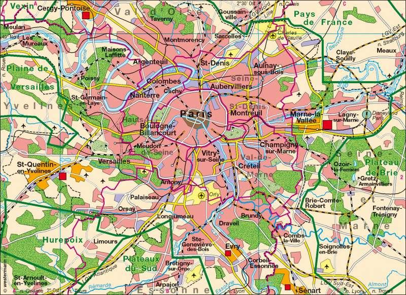 Paris | Übersicht | Paris | Karte 77/2