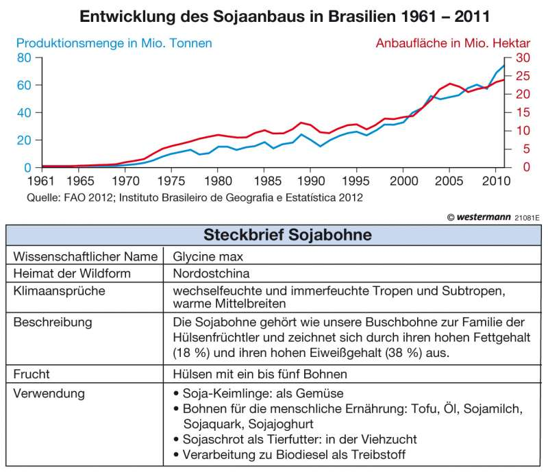 Diercke Weltatlas - Kartenansicht - Amazonien - Eingriff in den ...