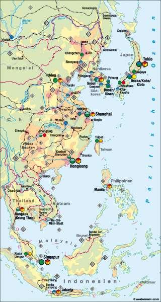 Asien | Wirtschaft | Asiatisch-pazifischer Wirtschaftsraum | Karte 122/1