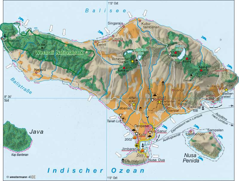 Bali | Tourismus | Singapur/Indonesien | Karte 123/5
