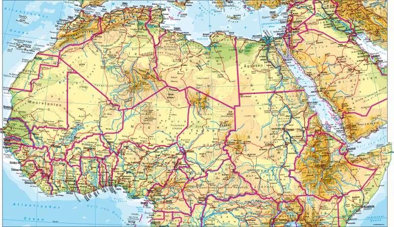 Afrika nördlicher Teil | physisch | Afrika nördlicher Teil – physisch | Karte 136/1