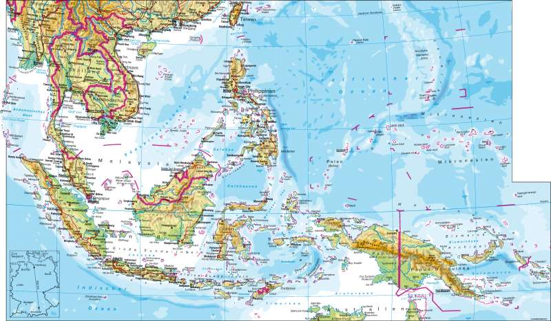 Südostasien   physisch   Südostasien – physisch   Karte 120/1