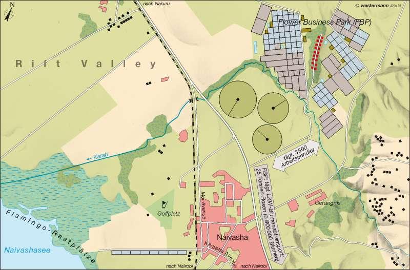 Kenia Karte.Diercke Weltatlas Kartenansicht Naivasha Kenia Rosenanbau