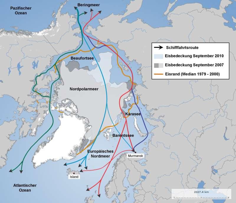 Nordpolarmeer Karte.Diercke Weltatlas Kartenansicht Nordpolargebiet Arktis 978