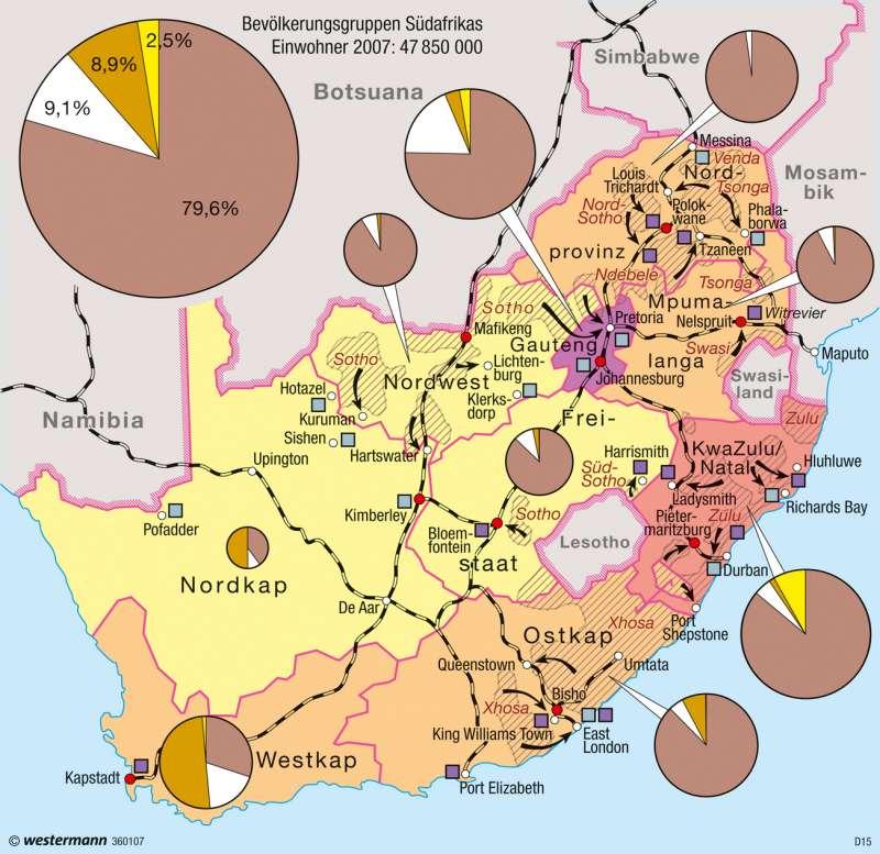 Südafrika Karte Pdf.Diercke Weltatlas Kartenansicht Südafrika Bevölkerung 100750
