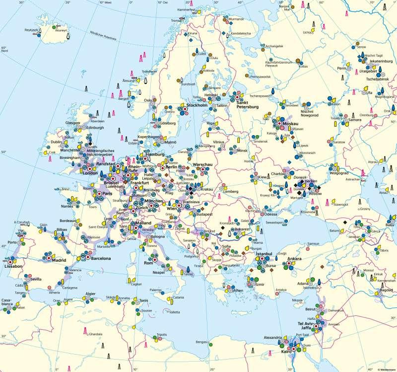 Europa | Wirtschaft (Übersicht) | Europa - Wirtschaft | Karte 78/1