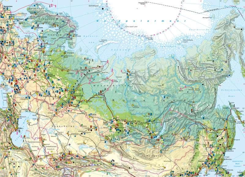Russland und Zentralasien | Wirtschaft | Russland und Zentralasien - Wirtschaft | Karte 94/1