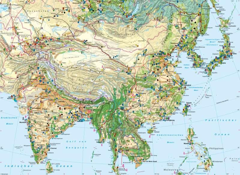 Südasien und Ostasien | Wirtschaft | Südasien und Ostasien - Wirtschaft | Karte 110/1