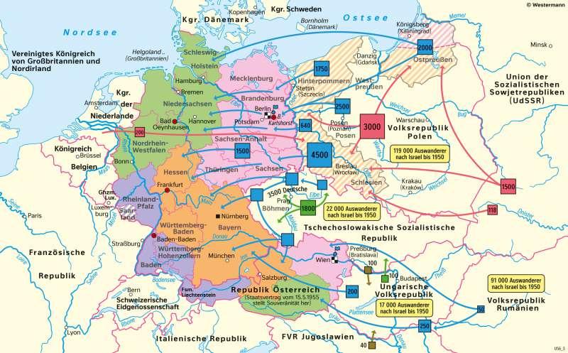 Mitteleuropa | Besatzungsmächte und Vertreibung 1945–1949 | Geschichte - Der Zweite Weltkrieg und seine Ergebnisse | Karte 217/5