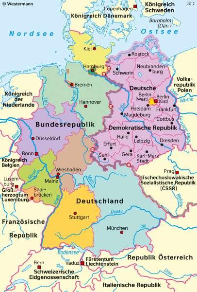 Deutschland | Deutsche Teilung 1949–1990 | Geschichte - Der Kalte Krieg | Karte 219/3