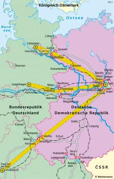 DDR | Transitverkehr nach West-Berlin | Geschichte - Der Kalte Krieg | Karte 219/4