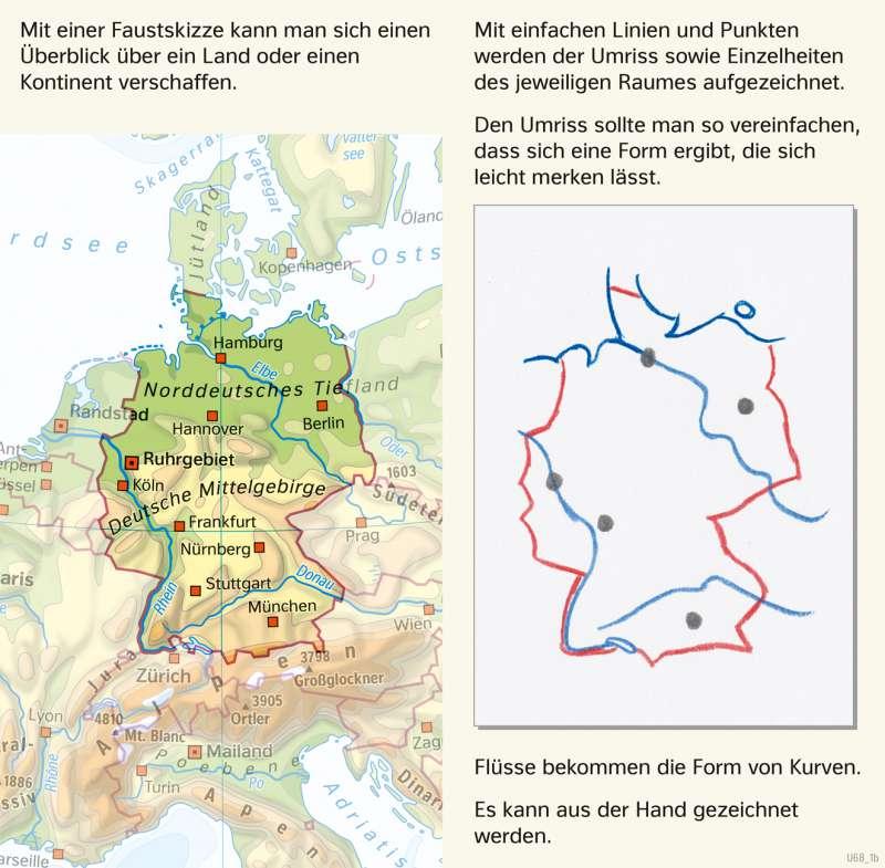 | Eine Faustskizze zeichnen | Deutschland - Orientierung | Karte 33/2
