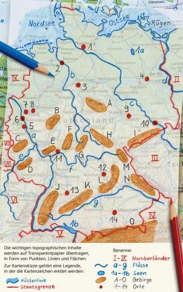 | Eine Kartenskizze auf Transparent anlegen | Deutschland - Orientierung | Karte 33/3