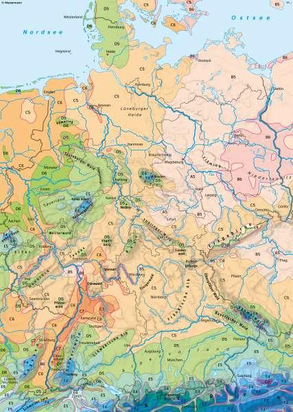 Deutschland | Klimaregionen | Deutschland - Klima | Karte 38/1