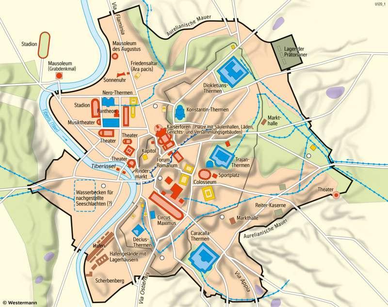 Römisches Reich Karte.Diercke Weltatlas Kartenansicht Rom Antike Metropole 978 3