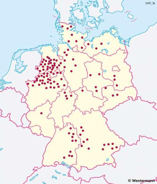 Deutschland | Viehhaltung | Deutschland - Landwirtschaft | Karte 41/4
